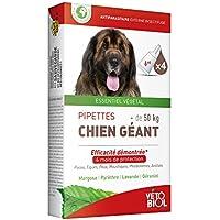 Vetobiol 4pipetas antiparasitario para perro gigante de +de 50kg