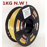 Stronghero3d FDM imprimante 3d PLA Filament 1.75mm Multicolore dégradé arc-en-ciel 1kg (1kilogram) Précision 0,05mm