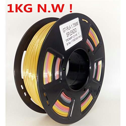 stronghero3d FDM 3D Drucker PLA Filament 1,75 mm multicolor Farbverlauf Regenbogen 1 kg Genauigkeit 0,05 mm