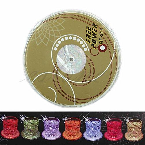 JERKKY 1 Piece LED Coaster Farbwechsel Leuchten Trinken Tasse Matte Geschirr Glow Bar Club Party