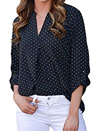 reputable site 5fd70 2f587 Amazon.it: A pois - T-shirt, top e bluse / Donna: Abbigliamento