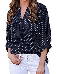 reputable site 439ac 8dbe3 Amazon.it: A pois - T-shirt, top e bluse / Donna: Abbigliamento