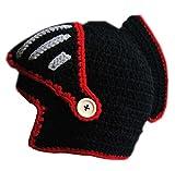Maschera Protettivo Beanie Moto Viso Scaldino Knight Hat (Nero/Rosso)
