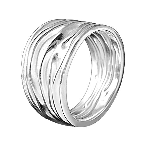 adcd26e9108e Materia joyería 925 anillo de plata Ancho estructura - anillo Ladies  plateado -.