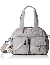 Kipling - Defea, Bolsos de mano Mujer, Grey (N Slate Grey), 33x24.5x19 cm (W x H L)