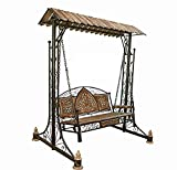 #8: Hindoro Wooden Iron & Swings/Jhoola for Home & Garden Floor-Standing