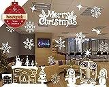 Navidad Santa Claus árbol de Navidad Salón Dormitorio Escaparate Extraíble Pegatinas de pared Murales (A)