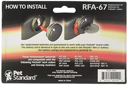 Piles Compatible PetSafe RFA-67 (Lot de 10) 2