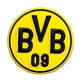 Unbekannt Borussia Dortmund Aufnäher, Patch, Aufbügler 3D BVB Emblem Ø 9 cm - Plus Gratis Lesezeichen I Love Dortmund