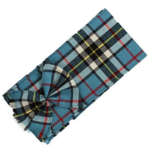Kilts Wi Hae schottischen 100% Wolle Tartan Damen Mini Schärpe mit Rosette-Thomson blau - Tartan-mini-kilt