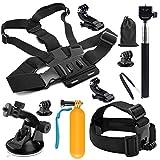 SHOOT 10 en 1 Accessories Pack Kit Selfie Bâton pour GoPro Hero 7 Noir Argent Blanc/6/5/4/3 +/3/Hero(2018)/Fusion Crosstour Campark Nouveau APEMAN WiMiUS TecTecTec YI AKASO Campark Victure