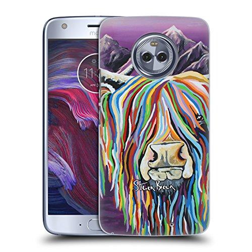 Offizielle Steven Brown Wullie & Maggie Hochland Kuh Sammlung 2 Ruckseite Hülle für Motorola Moto X4 (Maggie Taschen Brown)