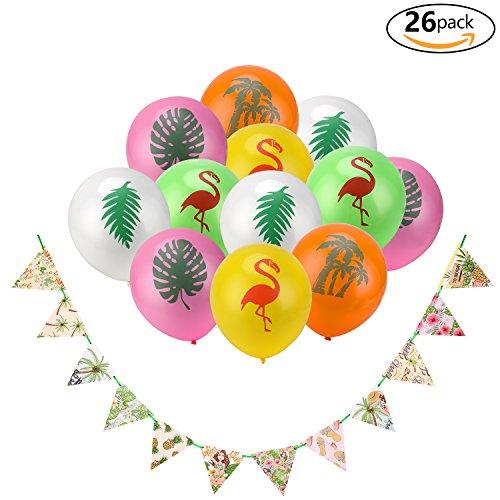 eko Ananas Hibiscus Tropische Wimpel Banner Bunting Girlande für Hawaiian Luau Party Strand Sommer Tiki Hochzeit Geburtstag Party Dekoration ()