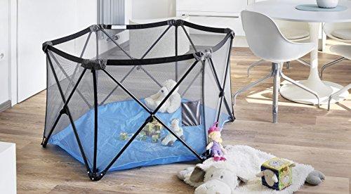 NEUHEIT | Exklusiv IMPAG® PopUp Kinder Baby Laufstall Laufgitter | 6-seitig mit Kreuz-Gestänge aus Metall | 5 kg leicht | faltbar | mobil | sicherheitsgeprüft