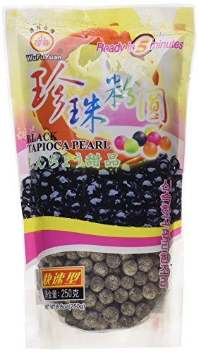 Wu Fu Yuan Black Tapioca Pearl, 250 g (Packaging May Vary)