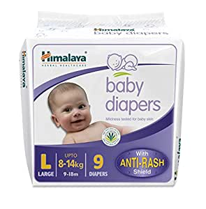 Himalaya Baby Large Size Diapers (9 Count)
