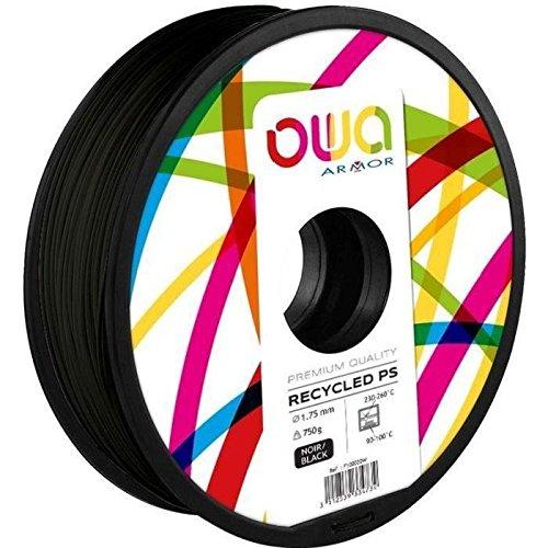 OWA Bobine de Filaments pour imprimante 3D – PS – Noir