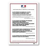 Affichage Protection des mineurs et Répression de l'ivresse publique - Sur place