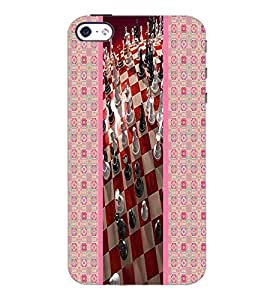 PrintDhaba Chess D-3789 Back Case Cover for APPLE IPHONE 4S (Multi-Coloured)