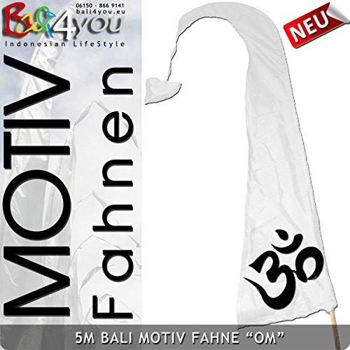 5m weisse Bali Motiv Fahne