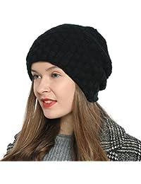 DonDon Damen Beanie Mütze Wintermütze Slouch Style mit sehr weichem und angenehm zu tragendem Innenfutter