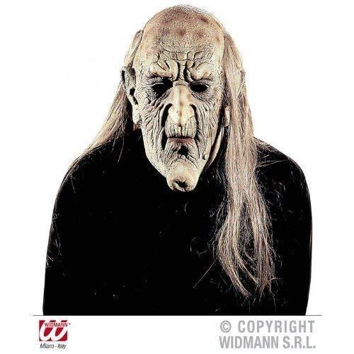 Widmann s.r.l. Latexmaske Alter Mann mit Glatze und seitlich Langen Haaren