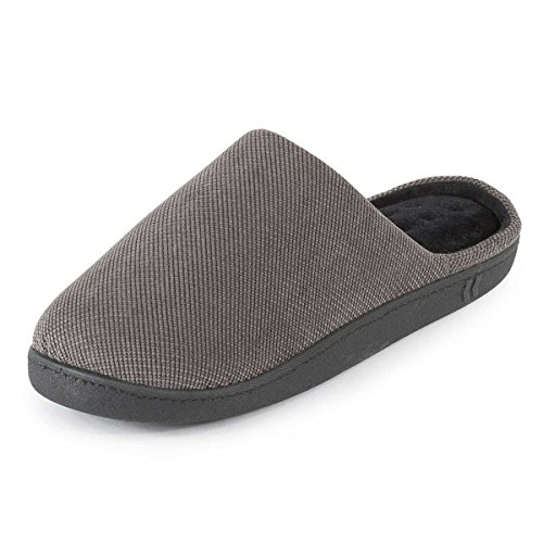 isotoner-mens-pillowstep-cord-mule-slippers-grey-large-uk-10-11