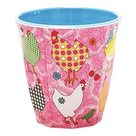 Gobelet Mélamine deux tons avec poule Imprimé en couleurs