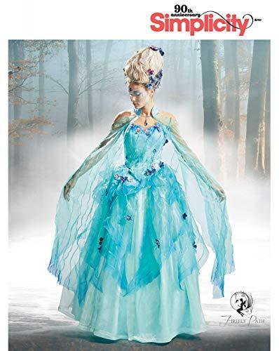 Kostüm Cape Taft - Simplicity Schnitmuster 7065.H5,Kostüm-Kleid [Damen, Gr.32-40] zum selber nähen, ideal für Profis [L4]