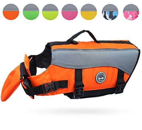 Vivaglory Rettungsweste für Hunde, Größe S, extra reflektierend, Orange
