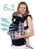 Porte-bébé ergonomique à 360° six positions de LILLEbaby - Le porte-bébé COMPLET en toutes saisons (Noir avec Soho)