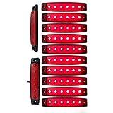 Yuk 10PCS 9,7cm 6LED Side LED Marker Trailer Marker Licht für LKW, Marker Light Amber, Rückseite Marker Light, Truck Cab Marker Beleuchtung, RV Begrenzungsleuchte