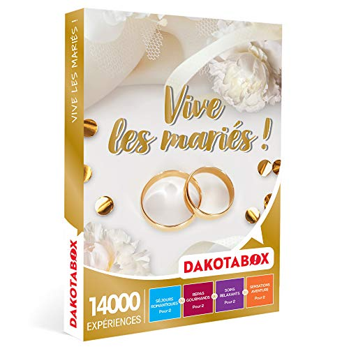 DAKOTABOX - Vive les mariés ! - Coffret Cadeau Mariage - 1 séjour ou 1 activité...