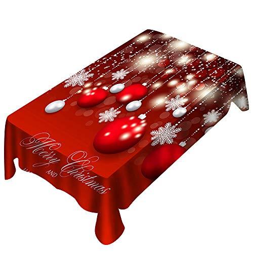 Wohnzimmer TischwäSche Weihnachtliche Gestreift Gedruckt Tischtuch GroßFormat Gartentischdecke Pflegeleicht Tischdecke Weihnachts Rot,Rechteck Tischdecke Tischdeko Weihnachten Naturmaterialien
