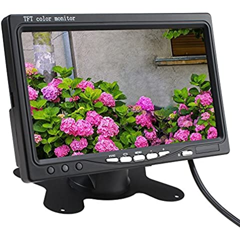 TOOGOO(R) 7 pulgadas TFT LCD Coche Trasera Monitor de Vista Con Inalambrica Vision Nocturna Coche Camara de Reserva