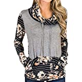Preferential New Ieason Womens Casual Long Sleeve Cowl Neck Colorblock Pullover Sweatshirts Blouse