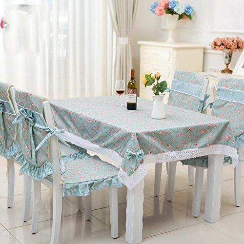 Imperméable nappe Nappes pastorales Tissu Petit chiffon frais Toile unique Nappe rectangulaire en table basse (2 couleurs en option) (taille facultative) pour dîner ( Couleur : B , taille : 110*160cm )