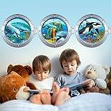 wall-art R00285 Wandaufkleber für Kinder, Bullauge verzauberter Meeresboden, 98 x 30 x 0,1 cm, Bunt