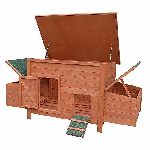 Hühnerstall / Hühnerhaus inkl. 2 Nestboxen ca. 179 x 80 x 75