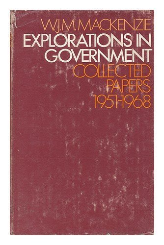 Explorations in Government: Collected Papers, 1951-68