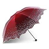 Parapluie ombrelle Anti-Uv Windproof Parapluie de voyage Jour de pluie ensoleillée robuste châssis en acier inoxydable Parapluie pliant Portable léger,taille: 23cm,UN