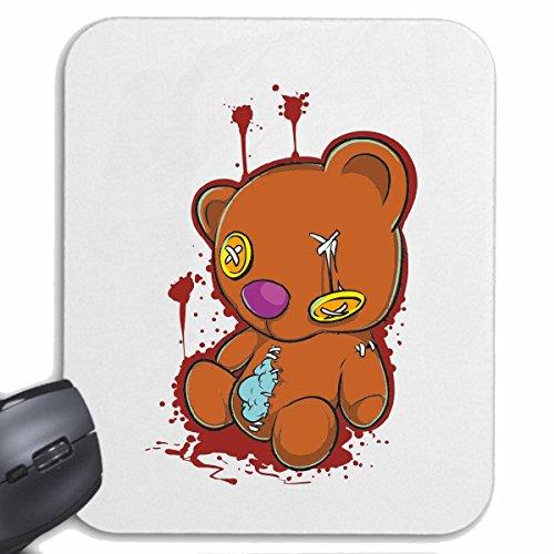 Reifen-Markt Mousepad (Mauspad) KAPUTTER TEDDYBÄR VOM SPERRMÜLL Lifestyle Fashion Street WEAR Hiphop Legendary Salsa für ihren Laptop, Notebook oder Internet PC (mit Windows Linux usw.) in Weiß -
