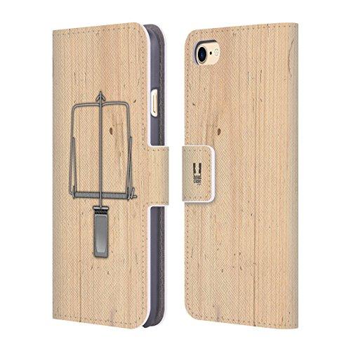 Head Case Designs Modèle De Coccinelle Designs Assortis Étui Coque De Livre En Cuir Pour Apple iPhone 6 / 6s Piège De Souris