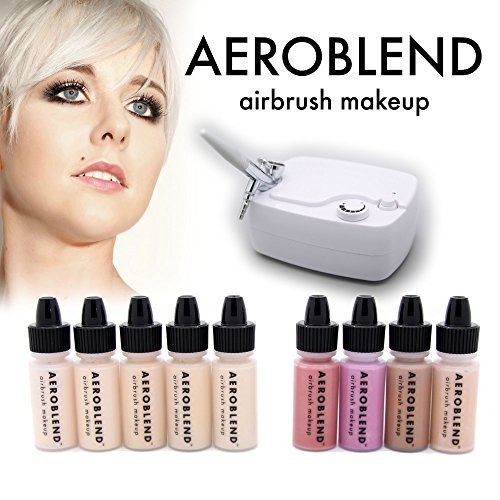 Aeroblend Airbrush maquillage Personal Starter Kit - professionnel cosmétiques Airbrush maquillage System - LIGHT Foundation