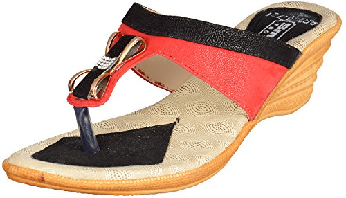 Smart Women's Multi-Coloured Nylon Fashion Sandals - 8 UK