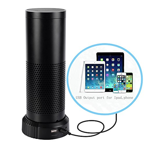 Akku Boden für Amazon Echo, luxacury Amazon Echo Ladestation Adapter Dock Echo Power Bank Ladegerät Cradle Dock Tragbare Ladestation für Echo, Handys Oder Tablets 9000 mAh