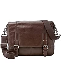 Fossil Leather Dark Brown Messenger Bag (MBG9226201)