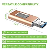 USB C Flash Drive 128GB3.0 Drive BOTOhigh Speed USB Dual Drive 3-in-1 OTG Jump Drive for USB-C Smartphone Tablet, MacBook, Samsung Galaxy S8, S8 Plus, Note 8, LG (black-128)