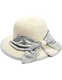 FUBULE Lady Straw Hat Lady Big Bow Sombrero de Pescador Travel Beach  Sombrilla Hat 3ebd45bfe09