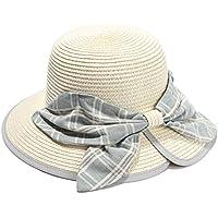 LBY Señoras De La Primavera Y El Verano Sombrero De Paja Señora Gran Arquero Sombrero De Pescador Sombrero Sombrilla De Playa Sombreros de Sol (Color : Beige, Tamaño : M (56-58cm))